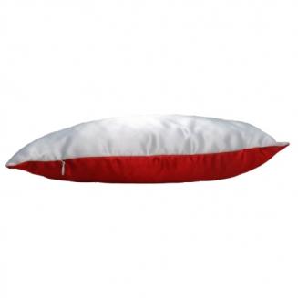 Подушка комбинированная красная 40х25см