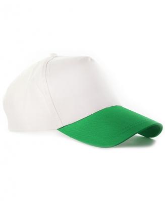 Бейсболка с зеленым козырьком