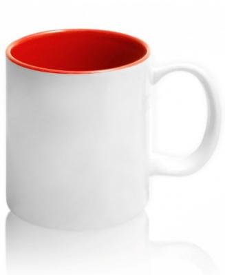 Кружка цветная внутри, красная