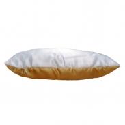 Подушка комбинированная золотая 40х25см