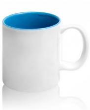 Кружка цветная внутри, голубая