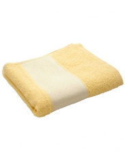Полотенце махровое желтое 30х70см