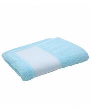 Полотенце махровое голубое 30х70см