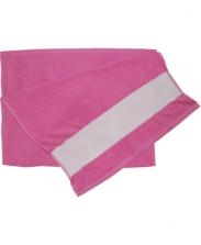 Полотенце махровое розовое 30х70см