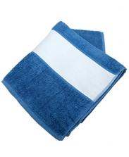 Полотенце махровое синее 50х100см