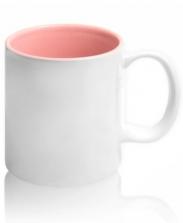 Кружка цветная внутри, розовая