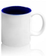 Кружка цветная внутри, синяя