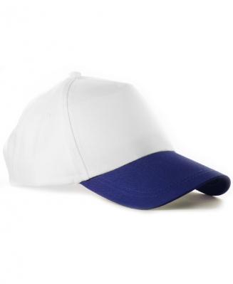 Бейсболка с синим козырьком