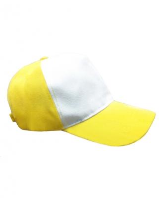 Бейсболка с желтым козырьком и верхом