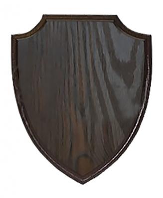 Плакетка для таблички Щит черное дерево, 23х32 см