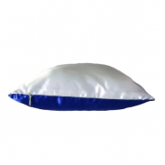 Подушка комбинированная синяя 40х25см
