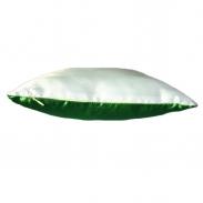 Подушка комбинированная зеленая 40х25см