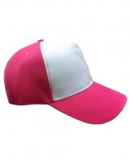 Бейсболка с розовым козырьком и верхом