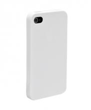 Чехол-бампер для IPhone 4, 4S силиконовый голубой
