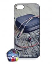 Чехол-бампер для IPhone 5, 5S силиконовый черный