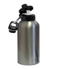 Фляжка с крышкой для питья серебряная