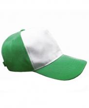 Бейсболка с зеленым козырьком и верхом