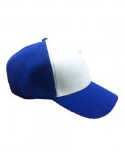 Бейсболка с синим козырьком и верхом