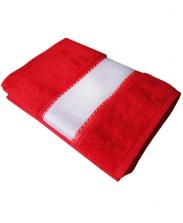 Полотенце махровое красное 50х100см