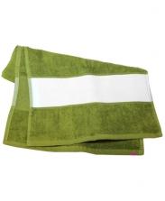 Полотенце махровое оливковое 30х70см