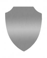 Табличка Щит серебряная, 18х22 см