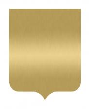 Табличка Герб золотая, 18х22 см