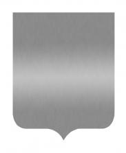 Табличка Герб серебряная, 18х22 см