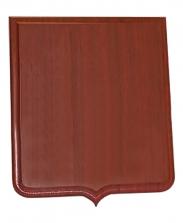 Плакетка для таблички Герб красное дерево, 23х32 см