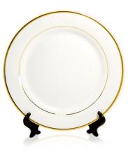 Тарелка с золотым ободком, d=20/26 см