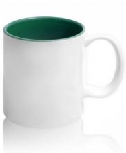 Кружка цветная внутри, зеленая